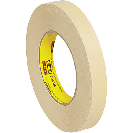 "3M™ 231 Masking Tape, 3"" Core, 0.75"" x 180', Tan, Case Of 12"
