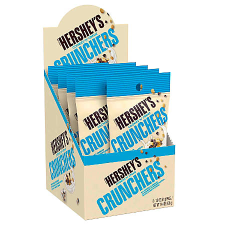 Hershey's® Cookies 'n Crème Crunchers Snacks, 1.8 Oz, Pack Of 8 Pouches