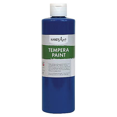 Handy Art 16 oz. Premium Tempera Paint - 16 fl oz - 1 Each - Blue
