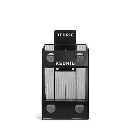 """Keurig® Mesh 4-Sleeve K-Cup® Pod Storage Rack, 12 1/8""""H x 9 7/16""""W x 14 3/16""""D, Black"""
