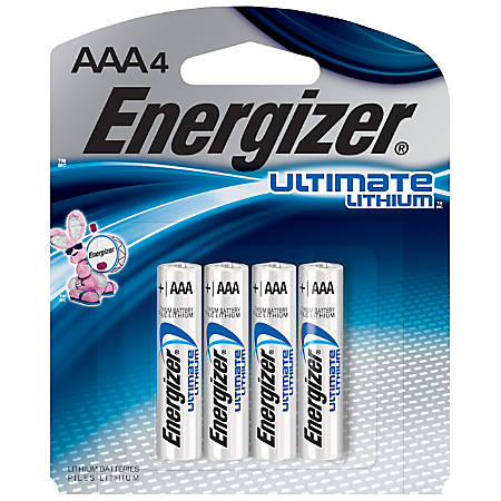 Energizer® Photo Ultimate Lithium AAA Batteries, Pack Of 4