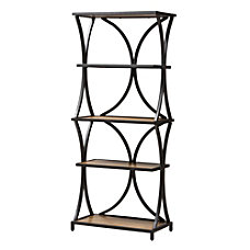 Baxton Studio Jeremy 4 Shelf Bookshelf