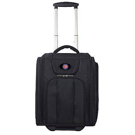 """Denco Sports Luggage Expandable Briefcase With 13"""" Laptop Pocket, Chicago Cubs, Black"""
