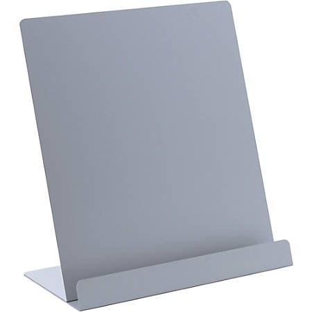"""Saunders Tablet Stand - Vertical - 9.5"""" x 7.3"""" x 4.8"""" - Aluminum - 1 Each - Silver"""
