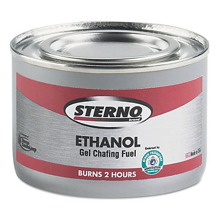Sterno® Products Ethanol Gel Chafing Fuel Cans, 182.4 Gm, Pack Of 72 Cans