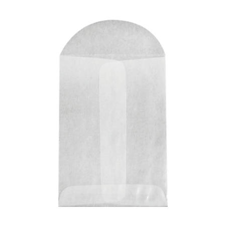 """LUX Coin Envelopes With Flap Closure, #1, 2 1/4"""" x 3 1/2"""", Glassine, Pack Of 100"""