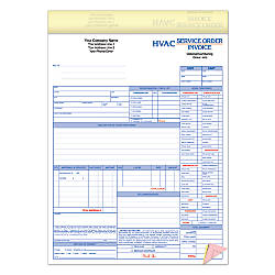 Full Color Custom Forms HVAC Service