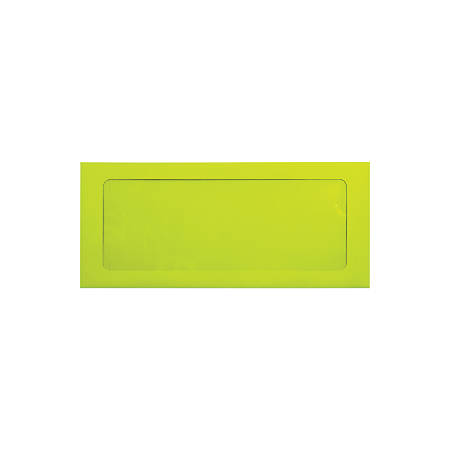 "LUX Full-Face Window Envelopes With Peel & Press Closure, #10, 4 1/8"" x 9 1/2"", Wasabi, Pack Of 250"