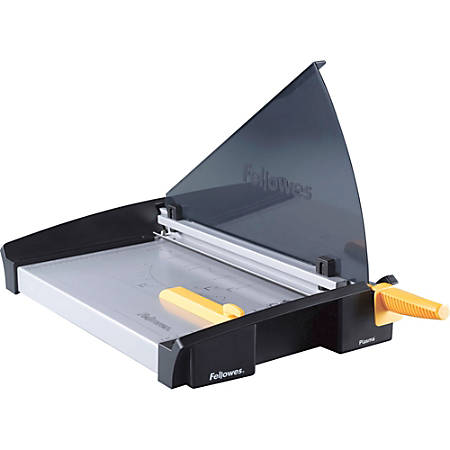 "Fellowes® Plasma Guillotine Paper Cutter, 18"", Black/Silver"