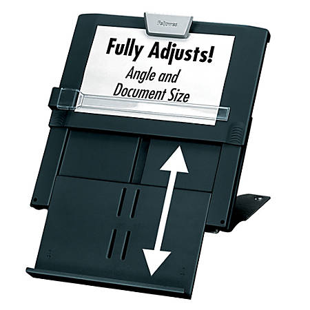 Fellowes® Professional Series In-Line Document Holder, Black/Silver