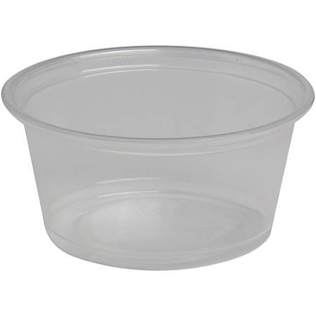 Dixie Plastic Portion Cup - 2 fl oz - 2400 / Carton - Clear - Plastic - Sauce