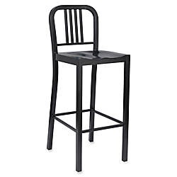 Lorell Metal Bistro Chairs Black Set