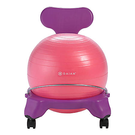Gaiam Kids' Balance Ball® Chair, Pink/Purple