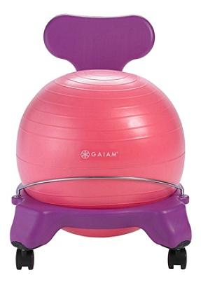 Groovy Gaiam Kids Balance Ball Chair Pink Purple Item 7191918 Andrewgaddart Wooden Chair Designs For Living Room Andrewgaddartcom