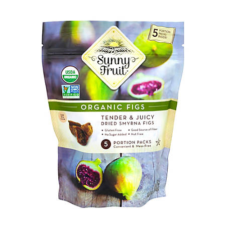 SUNNY FRUIT Organic Dried Smyrna Figs, 8.8 oz, 3 Pack
