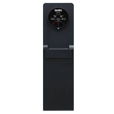 "AquaBoy® Pro II Hot/Cold Air-To-Water Generator, 45 1/2""H x 11 3/4""W x 17""D, Black/Stainless Steel"