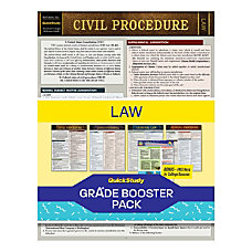 QuickStudy Grade Booster Pack Law