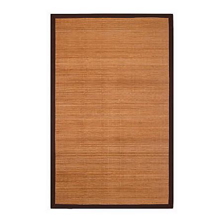 "Anji Mountain Villager Natural Bamboo Rug, 24"" x 36"", Brown"