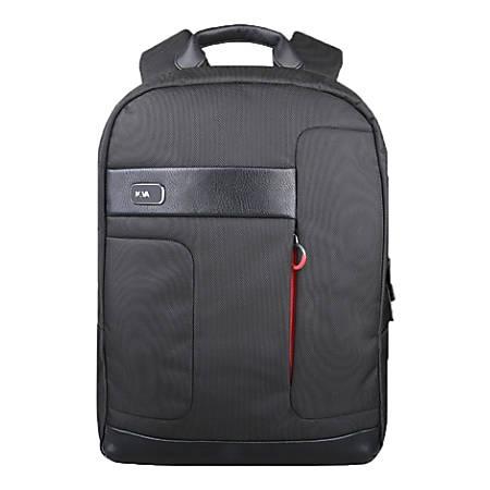 "Lenovo® NAVA Classic Backpack With 15.6"" Laptop Pocket, Black"