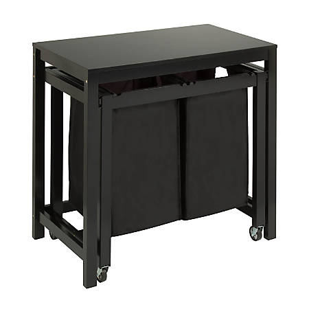 Honey-Can-Do Folding Table And Sorter, Black