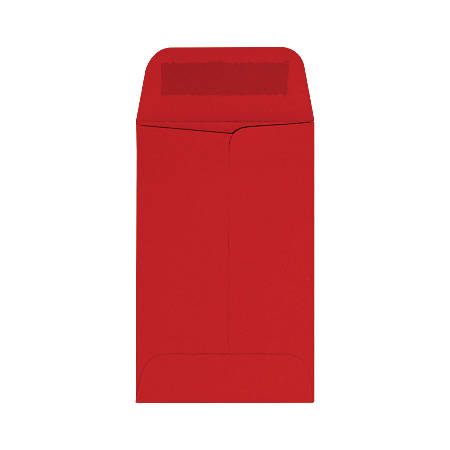 "LUX Coin Envelopes, #1, 2 1/4"" x 3 1/2"", Ruby Red, Pack Of 500"
