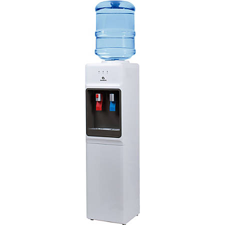 """Avalon Slim Hot/Cold Top-Loading Water Cooler, 11 1/4""""H x 10 3/4""""W x 42""""D, White"""