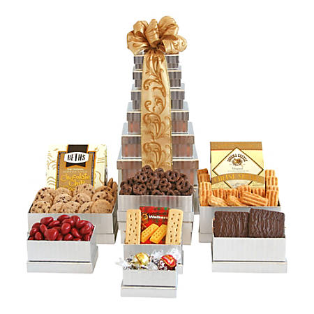 Givens and Company Shimmering Gourmet Gift Tower