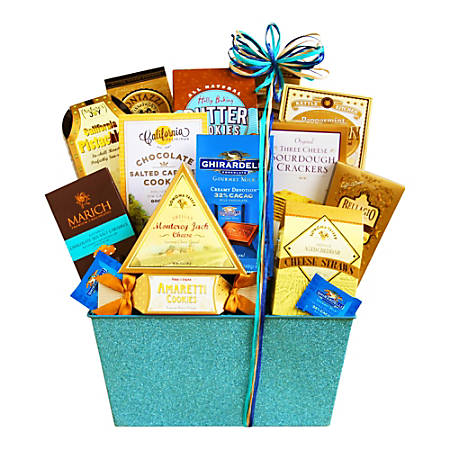 Givens and Company California Blue Sky Sparkling Gourmet Gift Basket