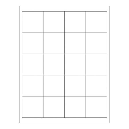 "Office Depot® Brand Removable Square Laser Labels, LL273, 2"" x 2"", White, Pack Of 1,200 Labels"