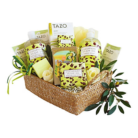 Givens and Company Natural Cucumber And Olive Oil Spa Gift Basket
