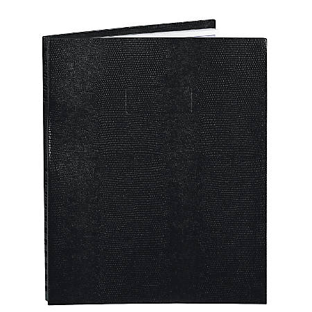 """Blueline® NotePro™ 50% Recycled Notebook, 8 1/2"""" x 11"""", College Ruled, 100 Sheets, Lizard-Like Black"""