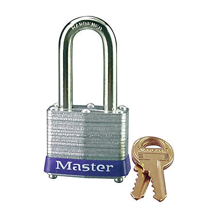 Master Lock® Long-Shackle Padlock, Steel Gray