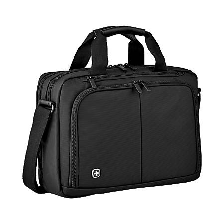 "Wenger® Source Laptop Brief With 14"" Laptop Pocket, Black"