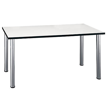 "Bush Business Furniture Aspen Rectangle Table, 57""W x 29""D, White Spectrum, Standard Delivery"