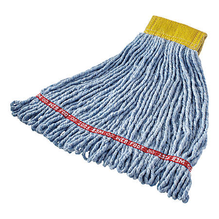 "Rubbermaid® Web Foot Wet Mop, 5"" Band, Blue"