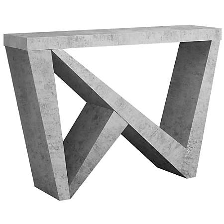 Monarch Specialties Hall Console Table, Rectangular, Cement-Look