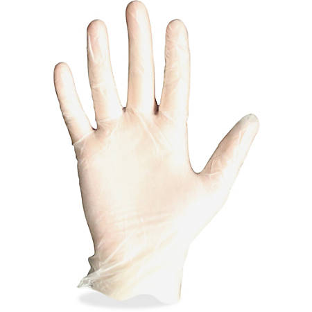 Protected Chef Vinyl General Purpose Gloves - Medium Size - Vinyl - Clear - Ambidextrous, Disposable, Powder-free, Comfortable - For Cleaning, Food Handling, General Purpose - 100 / Box