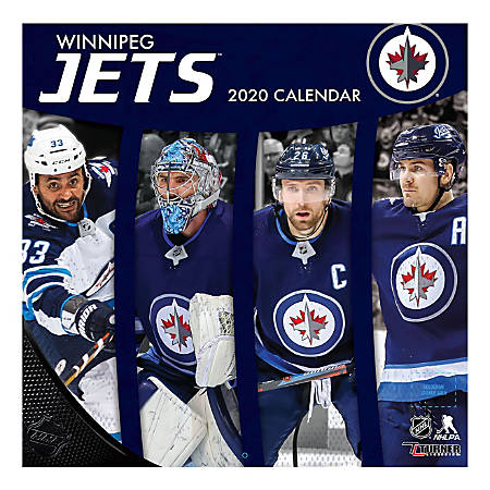 "Turner Licensing Monthly Wall Calendar, 12"" x 12"", Winnipeg Jets, 2020"