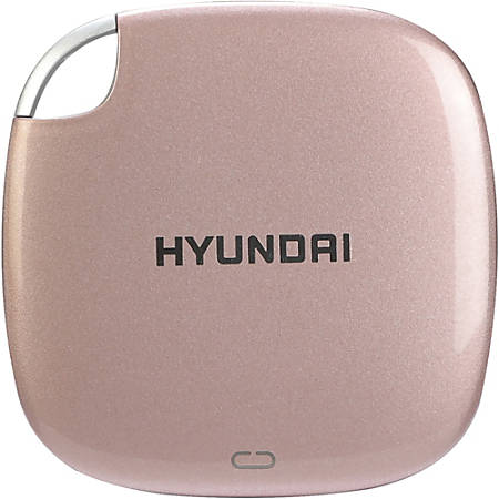 Hyundai External SSD - 1TB - Up to 450MB/s - Gen USB 3.1 - USB-C to C, USB-A to C - Rose Gold