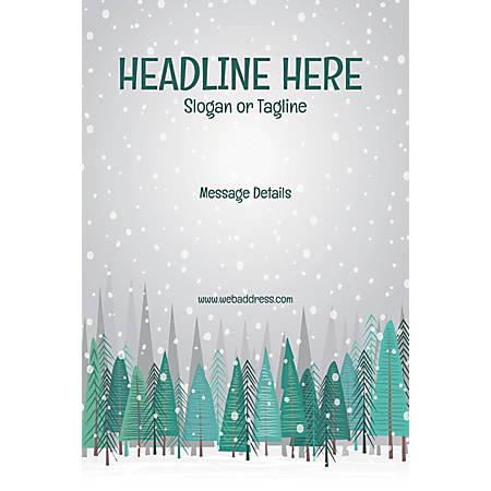 Custom Poster, Snow Fall, Vertical