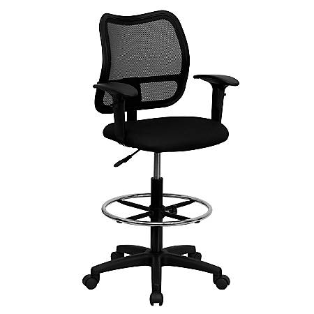 Flash Furniture Mesh Mid-Back Drafting Chair, Black