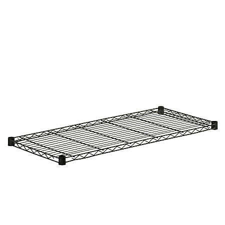 "Honey-Can-Do Powder-Coat Steel Shelf, 350-Lb Capacity, 1""H x 18""W x 42""D, Black"