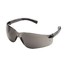 Crews BearKat Safety Glasses Wraparound Gray