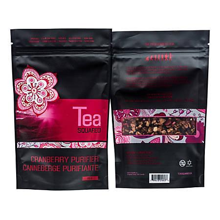 Tea Squared Cranberry Purifier Loose Leaf Tea, 2.8 Oz, Pack Of 6 Bags