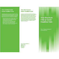 Customizable Trifold Brochure Green Vertical Strips