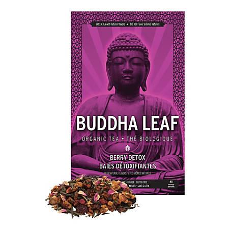 Tea Squared Buddha Berry Detox Organic Loose Leaf Tea, 2.8 Oz, Carton Of 6 Bags
