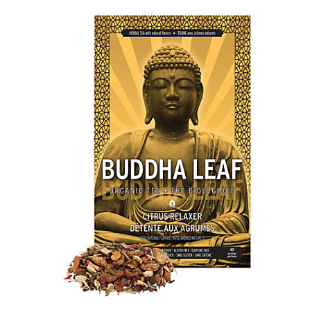 Tea Squared Buddha Citrus Relaxer Organic Loose Leaf Tea, 2.8 Oz, Pack Of 6 Bags