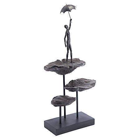 "Zuo Modern Flying Figurine, 26 13/16""H x 11 13/16""W x 8 1/8""D, Bronze"