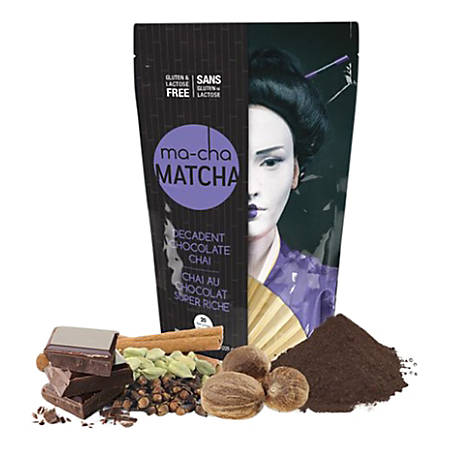 Ma-Cha Decadent Chocolate Latte Mix, 7.9 Oz, Pack Of 6 Bags