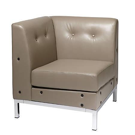 Office Star™ Avenue Six® Wall Street Chair, Corner, Smoke/Chrome